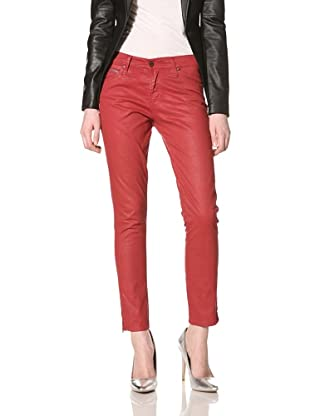 Rockstar Denim Women's Skinny Jean (Red)