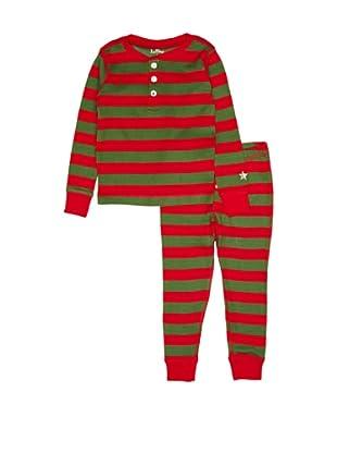 Hatley  Pijama Kandahar (Rojo / Verde)