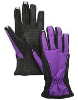 Isotoner Women's Smartouch Matrix Nylon Glove, Concord Grape, X-Large