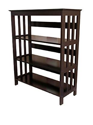 ORE International 3-Tier Bookcase, Espresso