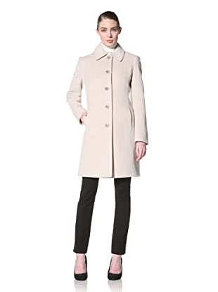 Jones New York Women's Single-Breasted Textured Coat (Oatmeal)