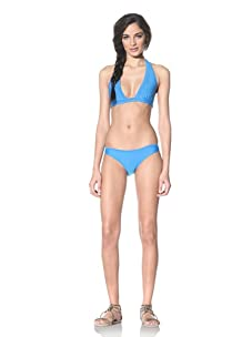 Tikka Women's Halter Top & Bikini Bottoms (Bermuda Blue)