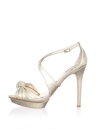 Badgley Mischka Women's Wallis Platform Sandal (Platinum)
