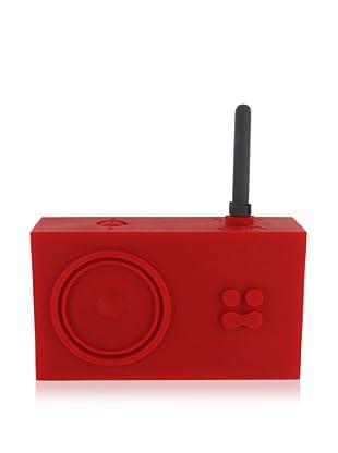 Lexon Tykho Rubber Radio, Red