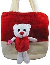 Tickles TEDDY HAND BAG Soft Toy Plush Kids Birthday Gift 22 cm