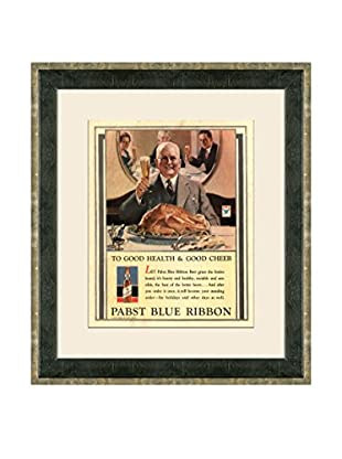 Vintage 1933 Pabst Blue Ribbon Advertisement, Brown, 21