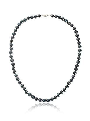 Radiance Pearl 6.5-7mm Black Akoya Pearl Necklace