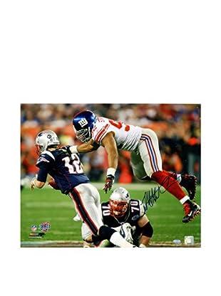 Steiner Sports Memorabilia Michael Strahan Leap Sacking Brady Photo