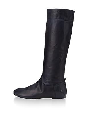 CNC Costume National Women's Flat Tall Boot (Black)