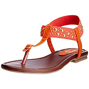 Series By Jove Women's Orange Fashion Sandals - 3 UK