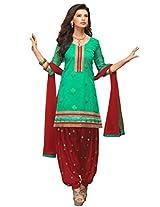 Kvsfab Womens Zari Patiala Unstitched Dress Material (Kvs 2454Pa-24 _Green)