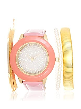 Arm Candy Women's NXS5292G-PK-P Pink/White Stainless Steel/Leather Watch
