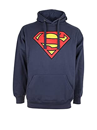 DC Comics Felpa Cappuccio Superman Distress Logo