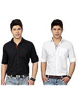 Top Notch Combo Of 2 Men Cotton Shirts