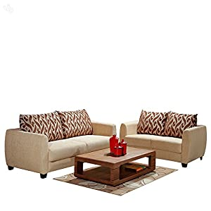 Evok Sofa Set with White Upholstery - Blossom
