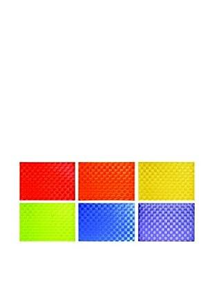 Molecuisine Untersetzer 6er Set Intrecci mehrfarbig