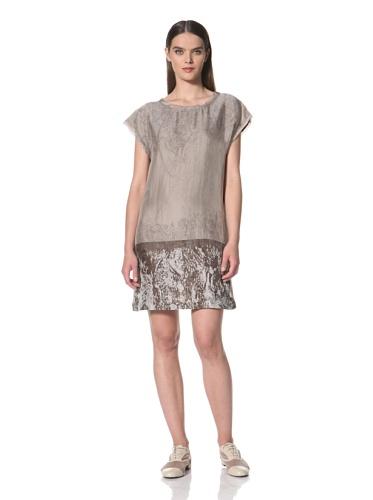 JIL SANDER NAVY Women's Printed Dress (Beige/OLIVE)