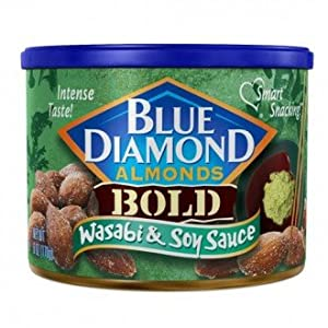 Blue Diamond Almonds - Wasabi & Soy Sauce - 150gms - Can - Blue Diamond