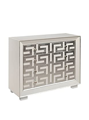 Bassett Mirror Company Perry Chest, Silver Leaf