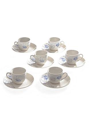 Tognana Set 6 Tazze Caffè con Piattino