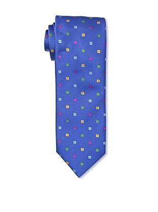 Massimo Bizzocchi Men's Flowers Tie, Blue