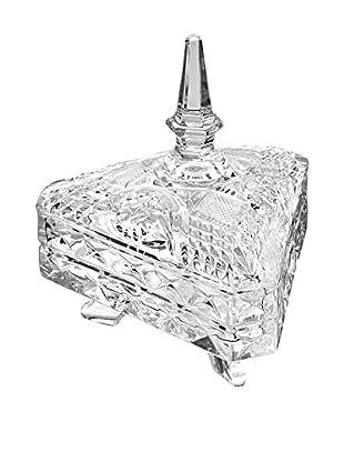 Studio Silversmiths Triangular Footed Crystal Box
