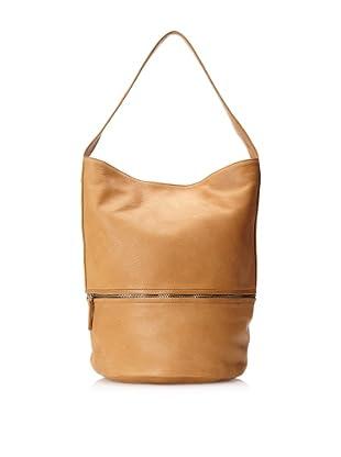 HARE + HART Women's Medium Bucket Bag, Camel Solid