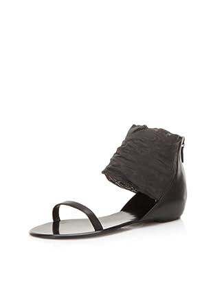 Delman Women's Liza Ankle Cuff Sandal (Black)