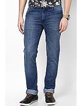 Light Blue Slim Fit Jeans Peter England
