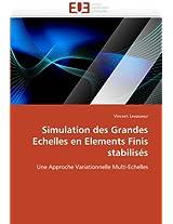 Simulation Des Grandes Echelles En Elements Finis Stabilises (Omn.Univ.Europ.)