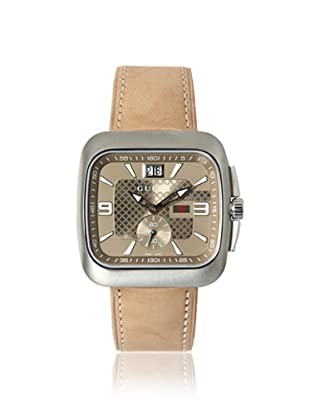 Gucci Men's YA131312 Gucci Coupé Brown Leather Watch
