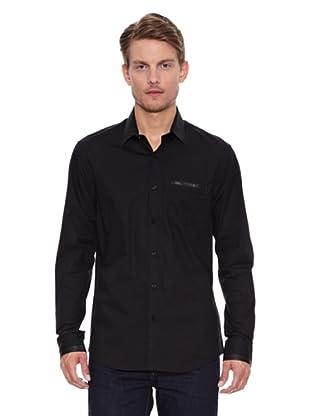Salsa Camisa Monaco Slim Napa (Negro)