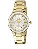 Fashion Lc-1405G Golden/White Analog Watch