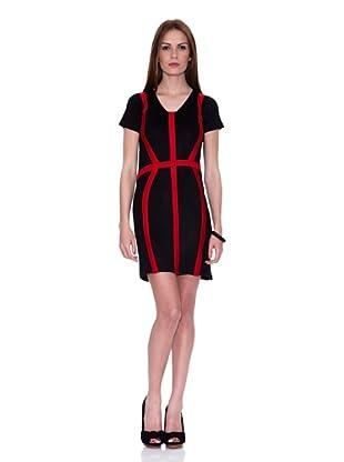 HHG Vestido Sophia (Negro / Rojo)