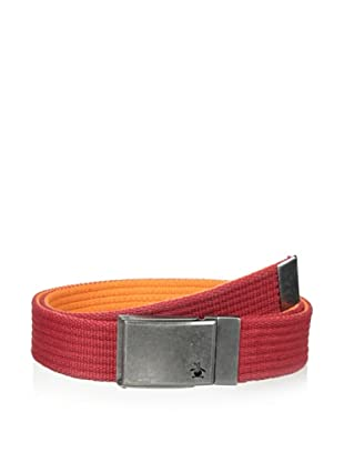 Original Penguin Men's Reversible Solid Web Belt (Pompeian Red)