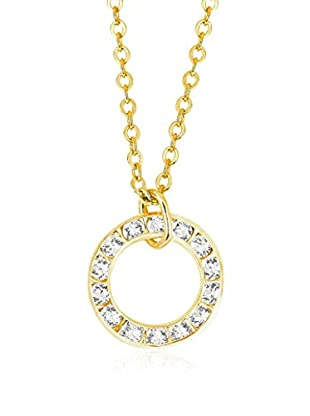Art de France Collar Circle metal bañado en oro 24 ct