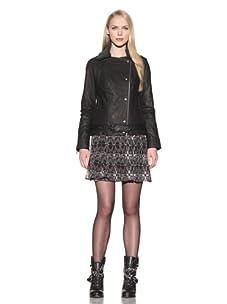 Charlotte Ronson Women's Motorcycle Jacket (Black)