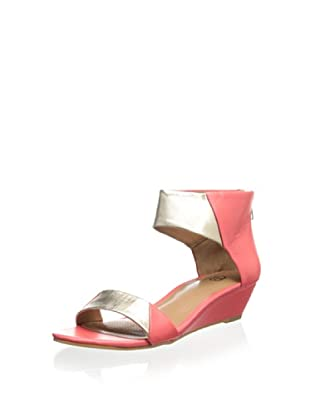 Ciao Bella Women's Whitney Demi Wedge Sandal (New Coral/Rose Gold)