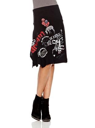 Desigual Falda Nathan (Negro Estampado)