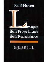 Lexique De La Prose Latine De La Renaissance