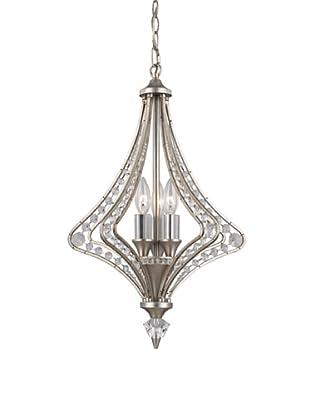 Artistic Lighting Ventoux Collection 3-Light Chandelier, Satin Silver