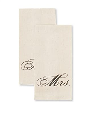 Chateau Blanc Set of 2 Gabrielle Hand Towels, Cream, 13