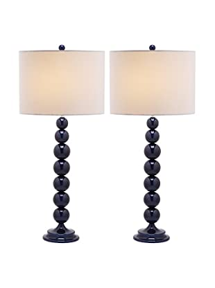 Safavieh Jenna Stacked Ball Lamp, Set Of 2, Navy