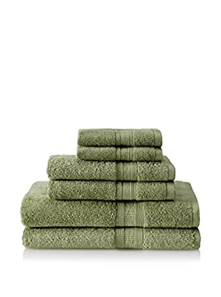 Home Source Aertex 6-Piece Towel Set, Bamboo