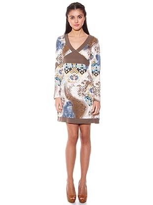 Janis Vestido Estampado (Beige)