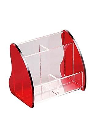Neutral Aufbewahrungsbox Kamelia rot/transparent