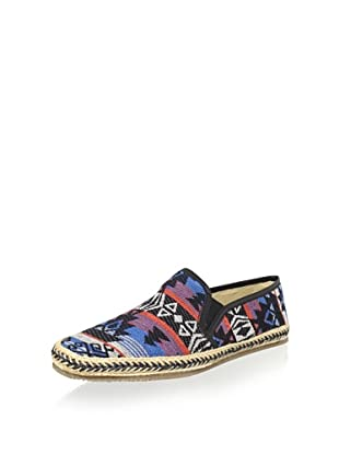 H by Hudson Men's Orca Espadrille Loafer (Blue Multi)