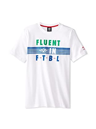 Umbro Men's Fluent in Futbol Tee (Italy White)
