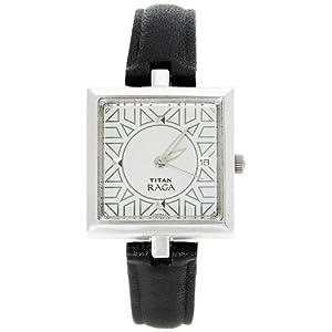 Titan Raga Analog Silver Dial Women's Watch - 2509SL01