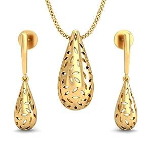 Myraa JKAA008PDER3386, 22 K Gold, Women's Pendant Earring Set